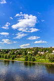 Elbe river and valley Royalty Free Stock Image