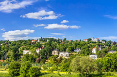 Elbe river and valley Stock Photo