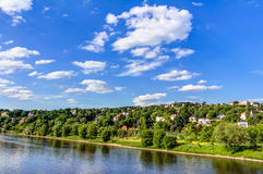 Elbe river and valley Royalty Free Stock Images