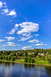 Elbe river and valley Stock Image
