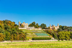 Elbe river and valley in Dresden Royalty Free Stock Photography