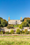 Elbe river and valley in Dresden Stock Photos