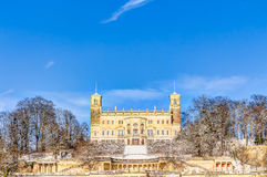 Elbe river valley in winter in Dresden Royalty Free Stock Image