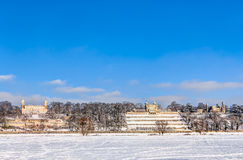 Elbe river valley in winter in Dresden Royalty Free Stock Images