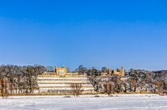 Elbe river valley in winter in Dresden Stock Photography