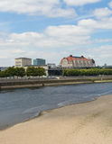 Elbe rivier dwarsdresden Stock Fotografie