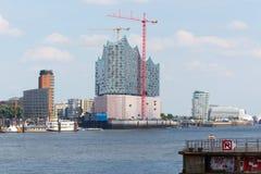 Elbe Salão filarmônico em Hamburgo foto de stock