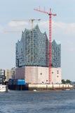 Elbe Salão filarmônico em Hamburgo imagem de stock