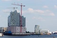 Elbe Salão filarmônico em Hamburgo imagens de stock