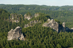 The Elbe Sandstone Mountains. In Saxon Switzerland, Germany , Europe Stock Photos