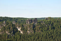 The Elbe Sandstone Mountains. In Saxon Switzerland, Germany , Europe Royalty Free Stock Photography