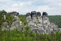 Elbe Sandstone Mountains Royalty Free Stock Photo