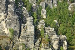 Elbe Sandstone Mountains Stock Image