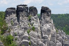 Elbe Sandstone Mountains Stock Photo