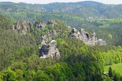 Elbe Sandstone Mountains Royalty Free Stock Photography