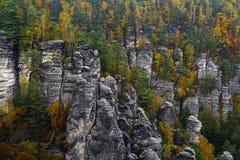 Elbe Sandstone Mountains Royalty Free Stock Photos