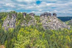 The Elbe Sandstone Mountains Stock Photos