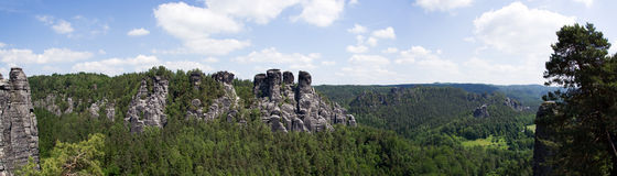 Elbe Sandstone Mountains, Germany Royalty Free Stock Photos