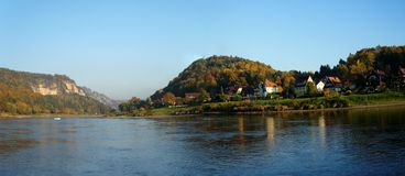 On the Elbe in Saxon Switzerland, Germany Royalty Free Stock Photos