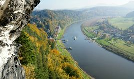 The Elbe in Saxony, Germany Royalty Free Stock Photography