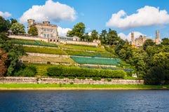 Elbe slottar royaltyfria bilder
