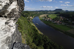 Elbe-Tal Stockfoto