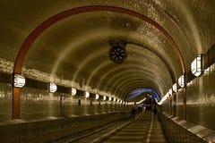 Elbe tunnel Arkivbild