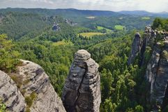 Elbe vallei Stock Foto's