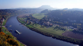 The Elbe Valley in Saxony, Germany Stock Photo