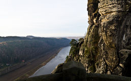 Elbe view from Bastei. Bridge, Rathen, Germany Royalty Free Stock Images