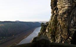 Elbe widok od Bastei Obrazy Royalty Free
