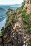 Elbesandstone岩石倾斜 免版税库存图片