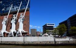 Elbfilharmonie, Hafengeburtstag St. Pauli-Landungsbrucken. Hamburg, Germany: Elbfilharmonie, Hafengeburtstag St. Pauli-Landungsbrucken royalty free stock photos