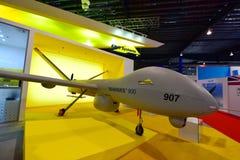 Elbit Hermes 900 bezpilotowy powietrzny pojazd na pokazie przy Singapur Airshow Zdjęcie Royalty Free