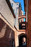 Elblag City - Church Path Royalty Free Stock Photos