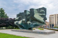 Monument of Rebirth on Constitution Square in Elblag. Royalty Free Stock Photos