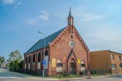 Elblag, Polonia - 9 settembre 2017: Pastore della chiesa di parrocchia buon fotografia stock libera da diritti