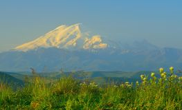 Elbrus in mountains Stock Photo