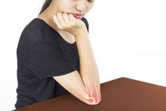 Elbow bones injury royalty free stock image