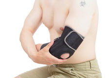 Elbow brace. Stock Photo