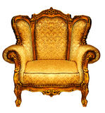 Elbow-chair. High Resolution. Isolated. Gold elbow-chair Stock Photography