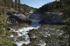 Elbow Falls, Alberta, Canada Royalty Free Stock Photos