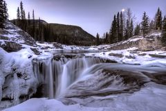 Elbow Falls Bragg Creek Stock Image