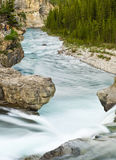 Elbow Falls at Nightfall Stock Image