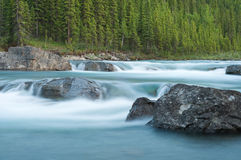 Elbow Falls at Nightfall Royalty Free Stock Photography