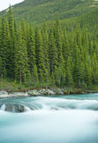 Elbow Falls at Nightfall Royalty Free Stock Photos