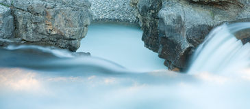 Elbow Falls at Nightfall Royalty Free Stock Image