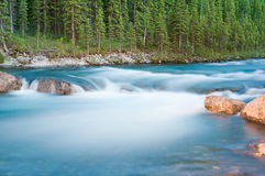 Elbow Falls at Nightfall Royalty Free Stock Images