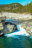 Elbow falls in summer flow. Elbow Falls Provincial Recreation Area, Alberta, Canada Stock Photos