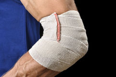 Elbow injury Royalty Free Stock Photography